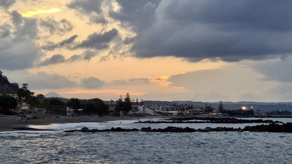 Platanias beach Crete by Ingemar Pongratz